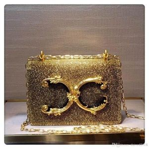 Handbags - Gold Luxury European Luxury Fishbone bag